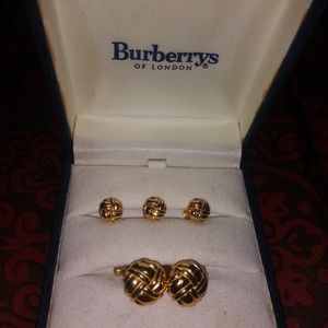 Burberry cufflinks and button covers